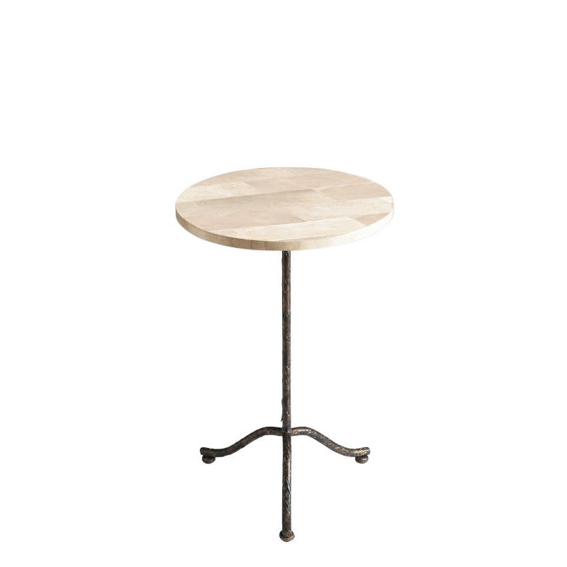Butler Specialty Loreto Fossil Stone Pedestal Table