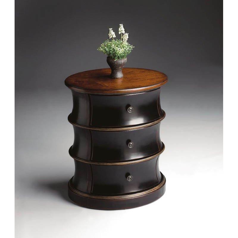 Butler Specialty Margot Cafe Noir Oval Drum Table