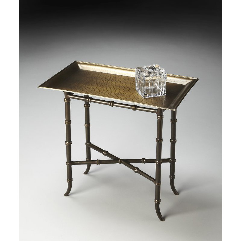 Butler Specialty Meiling Antique Brass Tray Table (2399025)