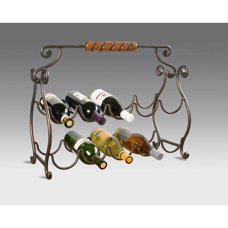 Butler Specialty Metalworks Wine Rack in Metal and Resin Finish