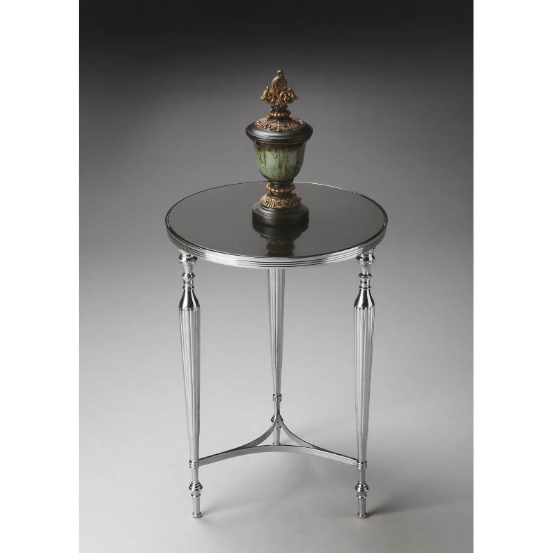 Butler Specialty Modern Expressions Nickel End Table