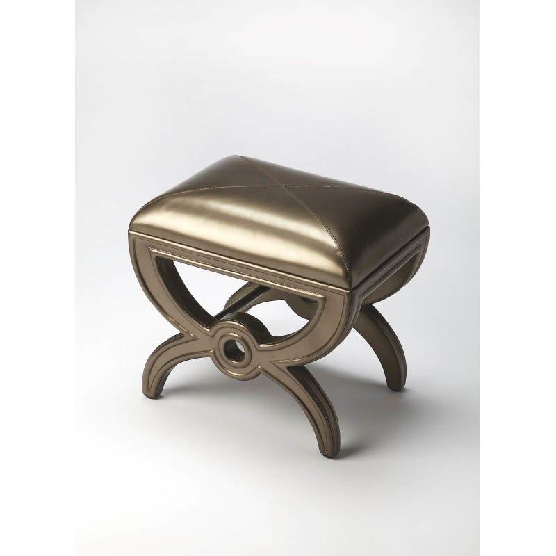 Butler Specialty Moderne Cosmopolitan Leather Vanity Stool