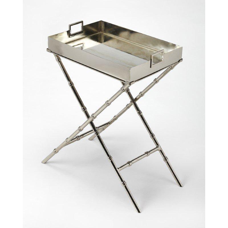 Butler Specialty Muriel Metal & Mirror Tray Table (3948260)