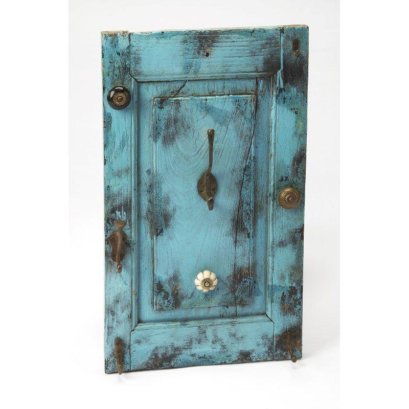 Butler Specialty Neely Rustic Blue Wall Mount Hook Rack (3866016)
