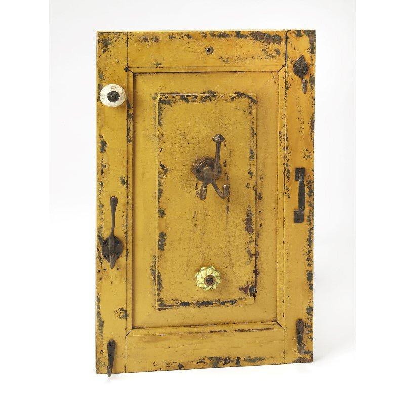 Butler Specialty Neely Rustic Yellow Wall Mount Hook Rack (3868016)