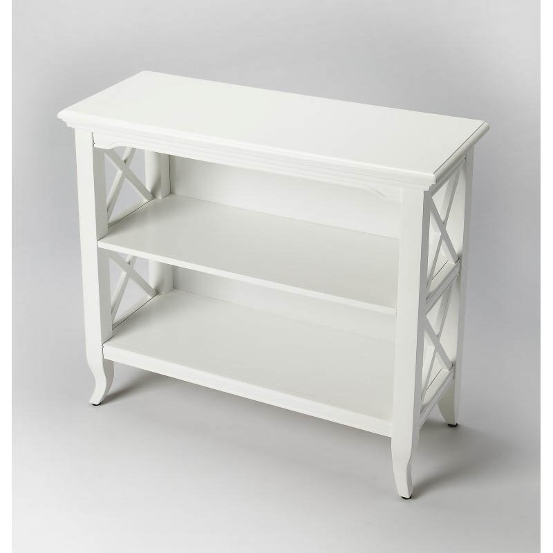 Butler Specialty Newport Glossy White Low Bookcase