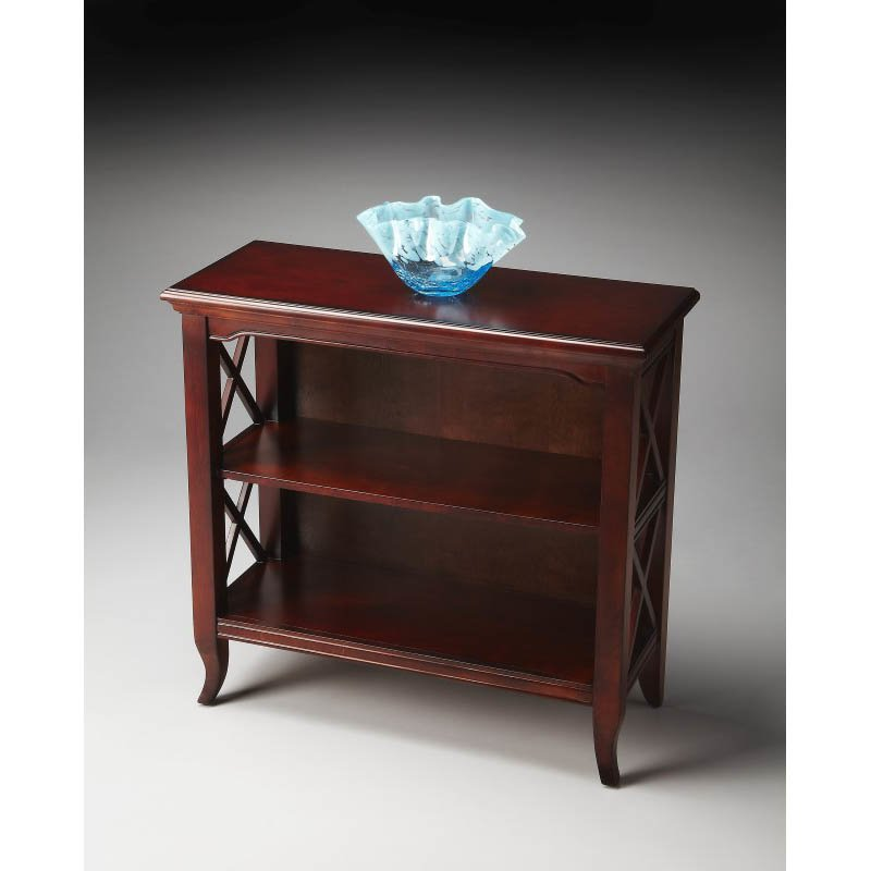 Butler Specialty Newport Plantation Cherry Low Bookcase