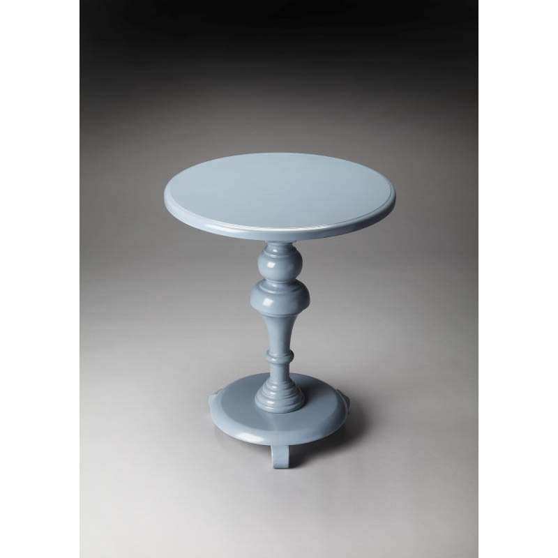 Butler Specialty Nicolet Glossy Wedgewood Pedestal Table