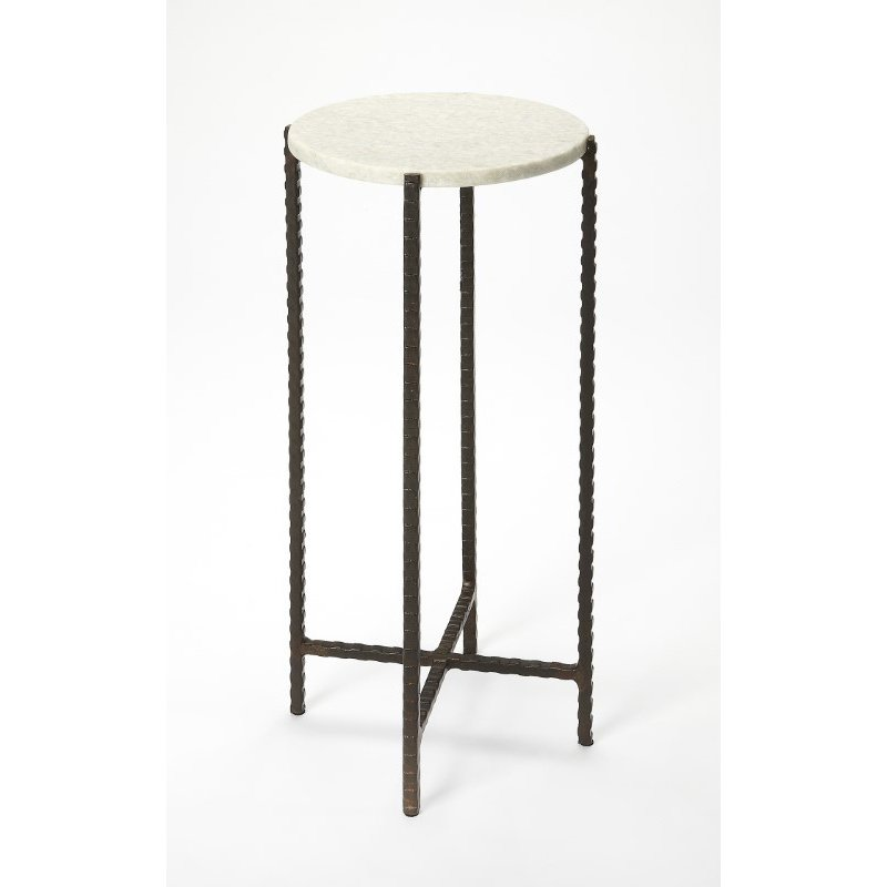 Butler Specialty Nigella Round Marble & Metal Accent Table (5245389)