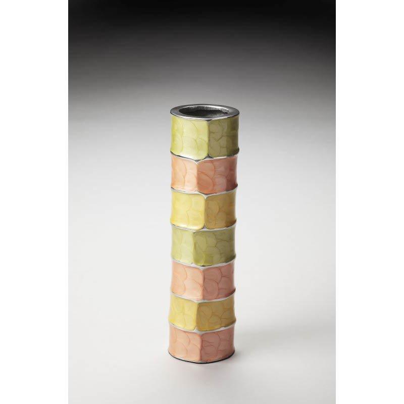 """Butler Specialty Pastel Aluminum 13"""" Decorative Vase"""