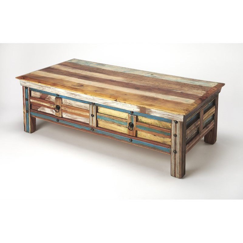 Butler Specialty Reverb Painted Rustic Coffee Table (5259290)