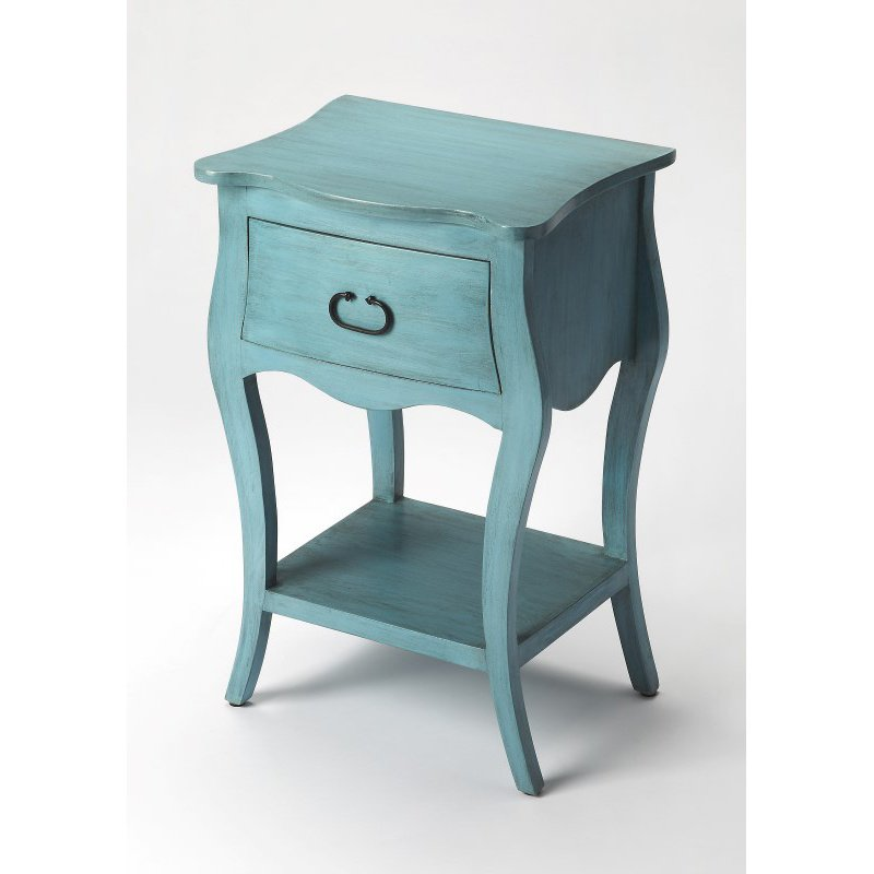 Butler Specialty Rochelle Distressed Blue Nightstand (9308301)