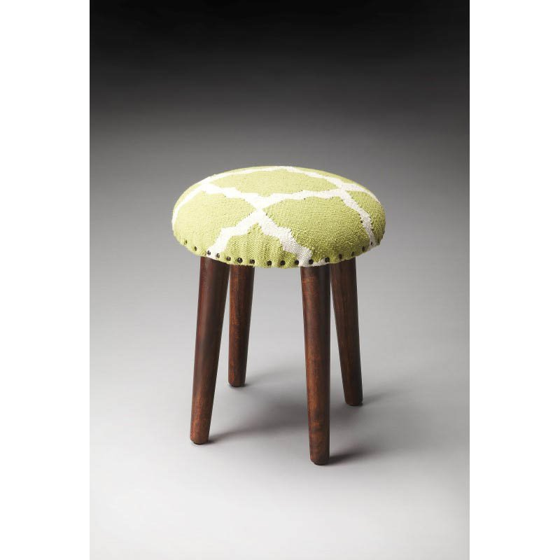 Butler Specialty Rochon Cotton Upholstered Stool
