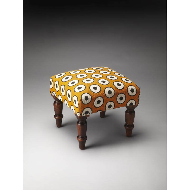 Butler Specialty Samina Cotton Upholstered Stool