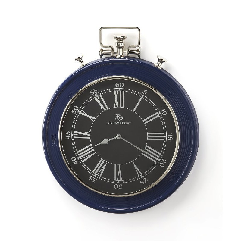 Butler Specialty Sapphire Blue Finish Wall Clock (6217365)