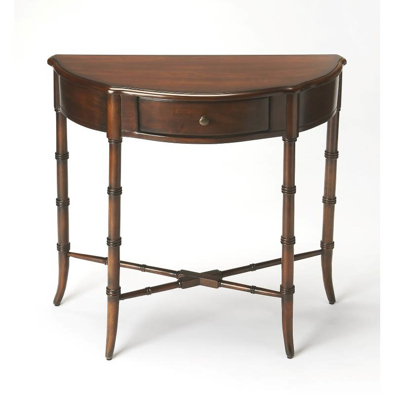 Butler Specialty Skilling Plantation Cherry Demilune Console Table