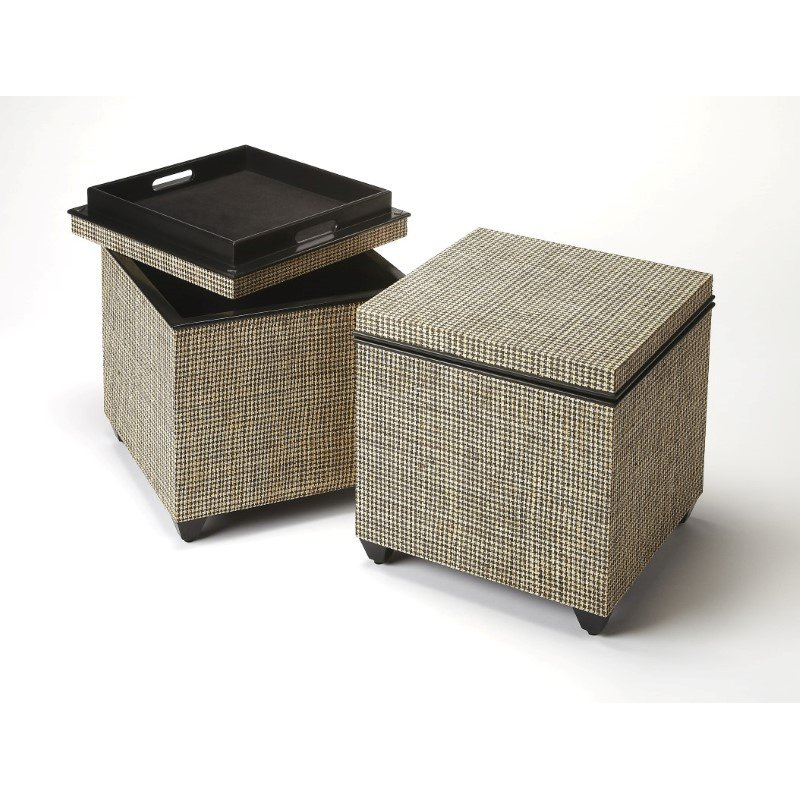 Butler Specialty Stickland Houndstooth Raffia Bunching Cube (3861140)