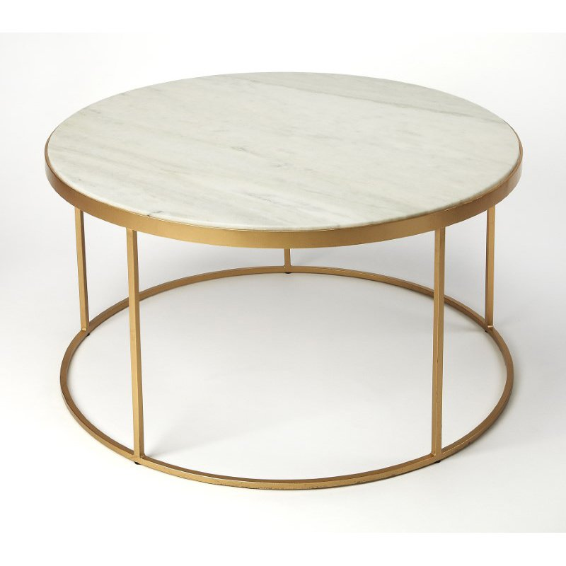 Butler Specialty Triton White Marble Coffee Table (9392389)