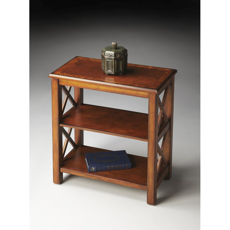 Butler Specialty Vance Olive Ash Burl Bookcase (4105101)