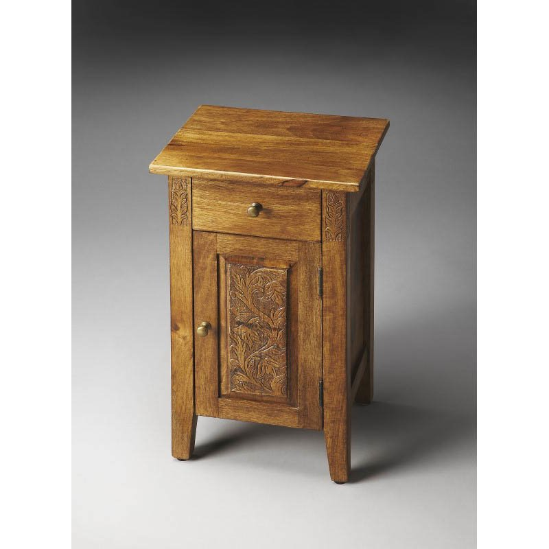 Butler Specialty Webster Hand Carved Chairside Chest