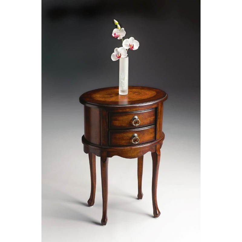 Butler Specialty Whitley Plantation Cherry Oval Side Table