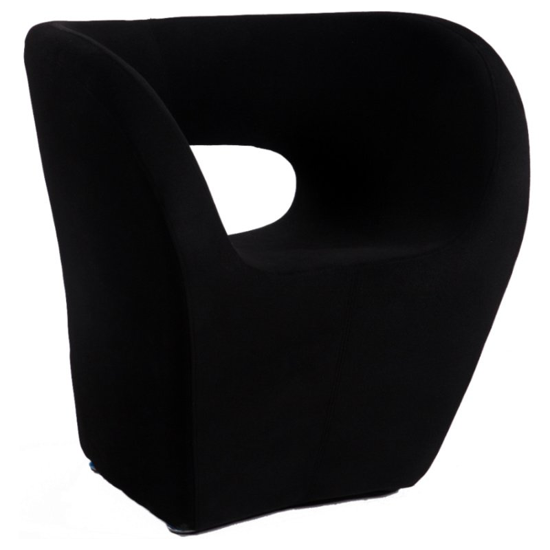 Chintaly Imports 2302 Stationary Arm Fun Chair in Black