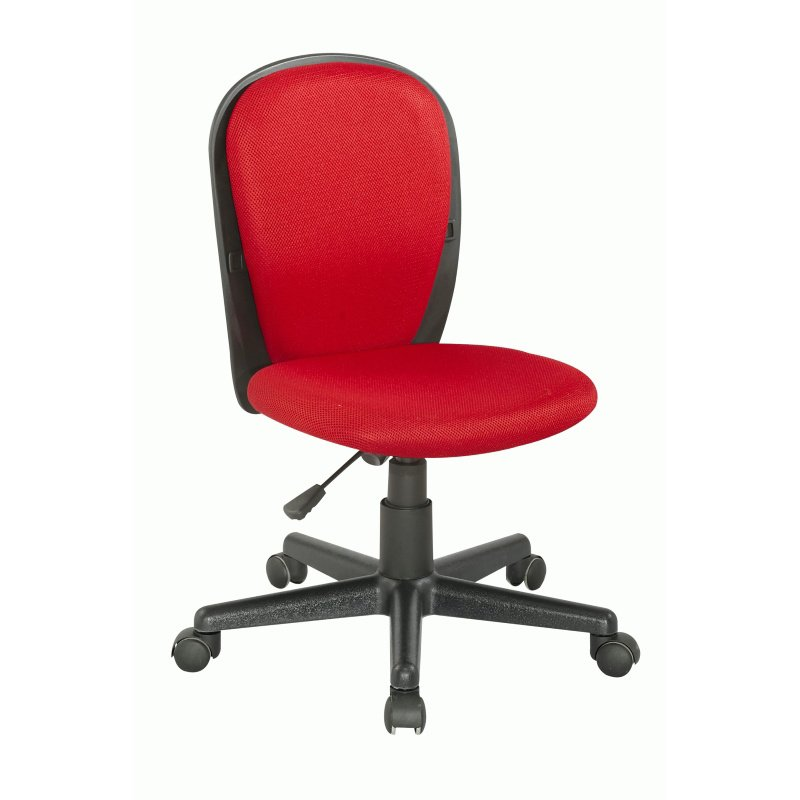 Chintaly Imports Fabric Back And Seat Youth Desk Chair in Red