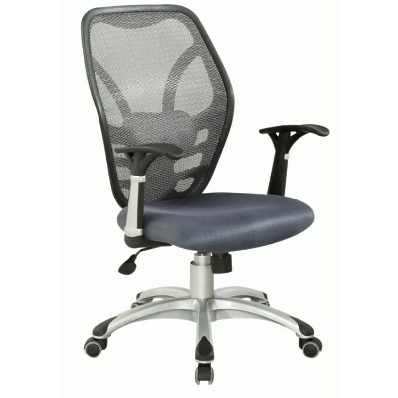 Chintaly Imports Mesh Seat & Back Pneumatic Office Chair