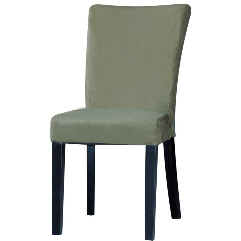 Chintaly Imports Monica Modern Parson Side Chair in Green (Set of 2)