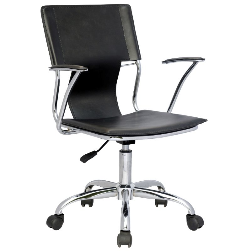 Chintaly Imports Swiwel Arm Chair in Black