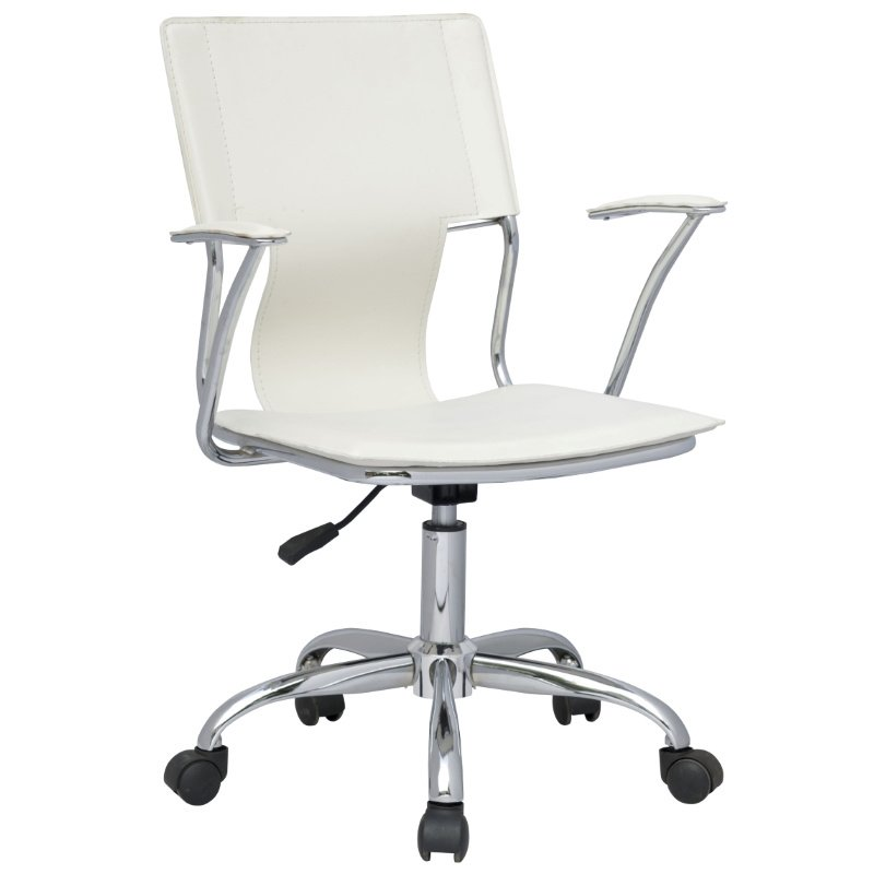 Chintaly Imports Swiwel Arm Chair in White