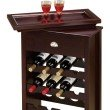 Coaster 16 Bottle Wine Rack with Serving Tray Top