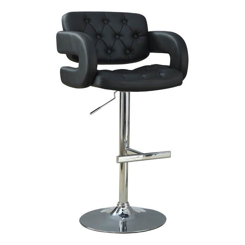 "Coaster 29"" Adjustable Bar Stool in Black"