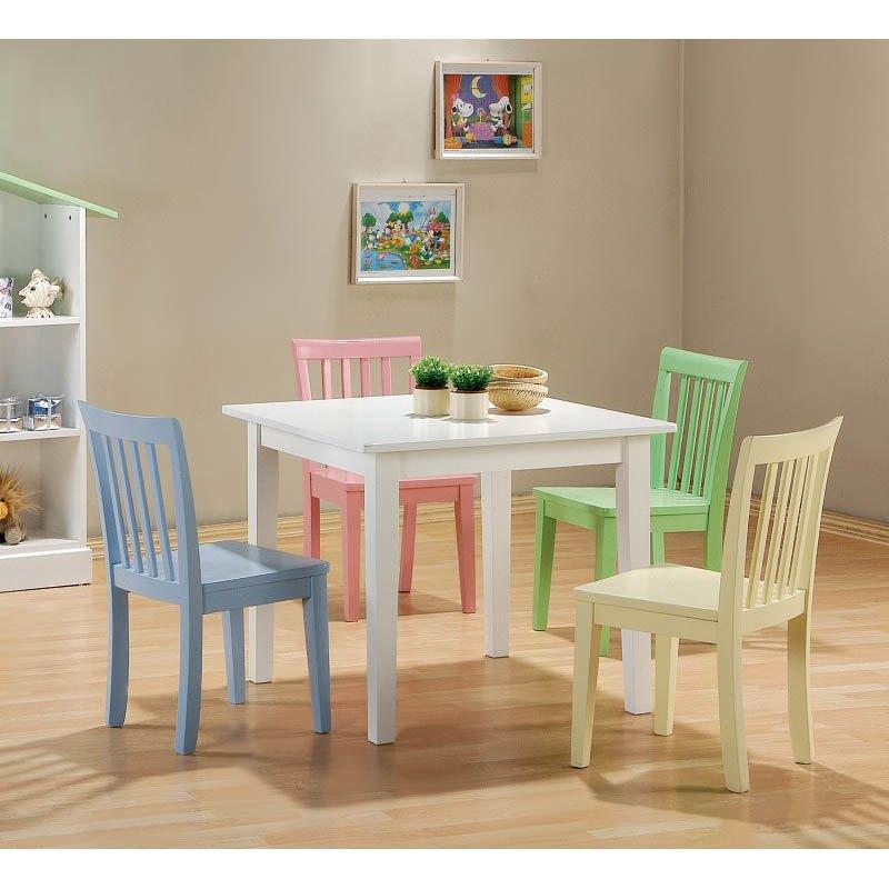 Coaster 5 Piece Wood Kids Table Set
