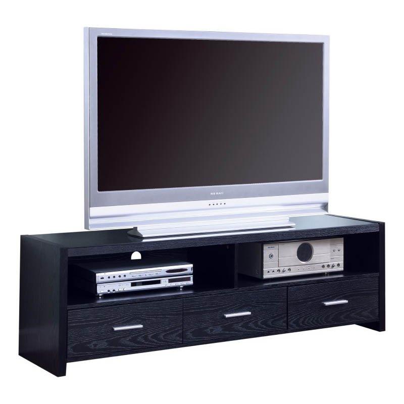 """Coaster 61"""" Contemporary Media Console in Black"""