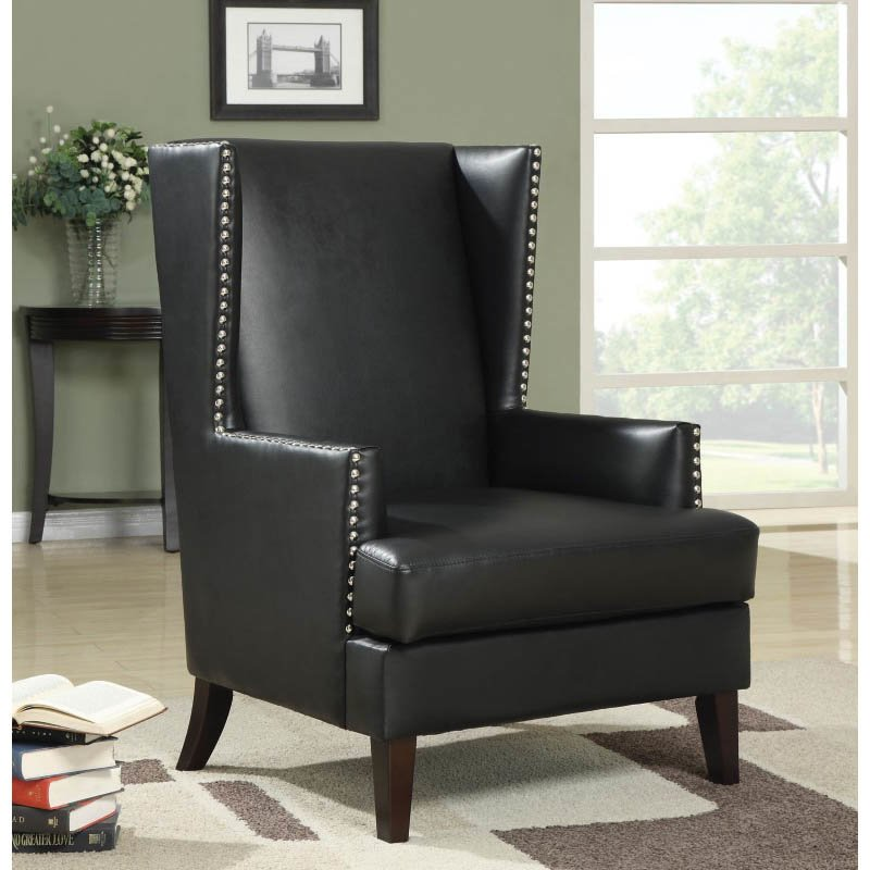 Coaster Accent Traditional Chair in Black