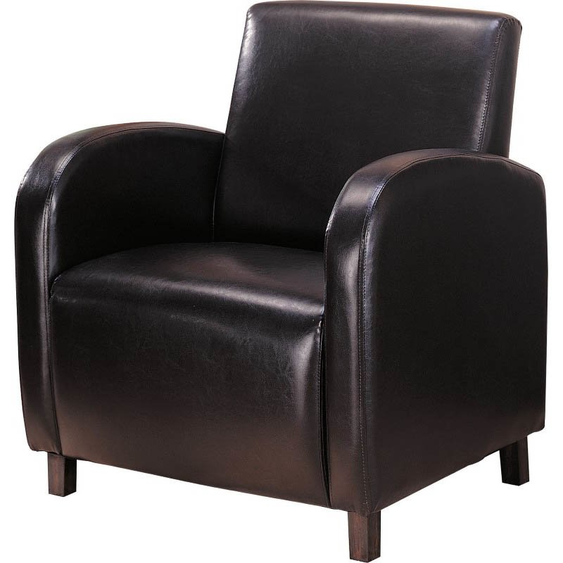 Coaster Accent Vinyl Club Arm Chair in Brown