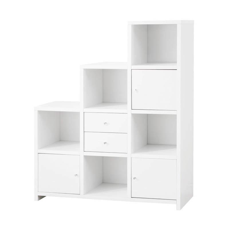 Coaster Asymmetrical Bookshelf in White