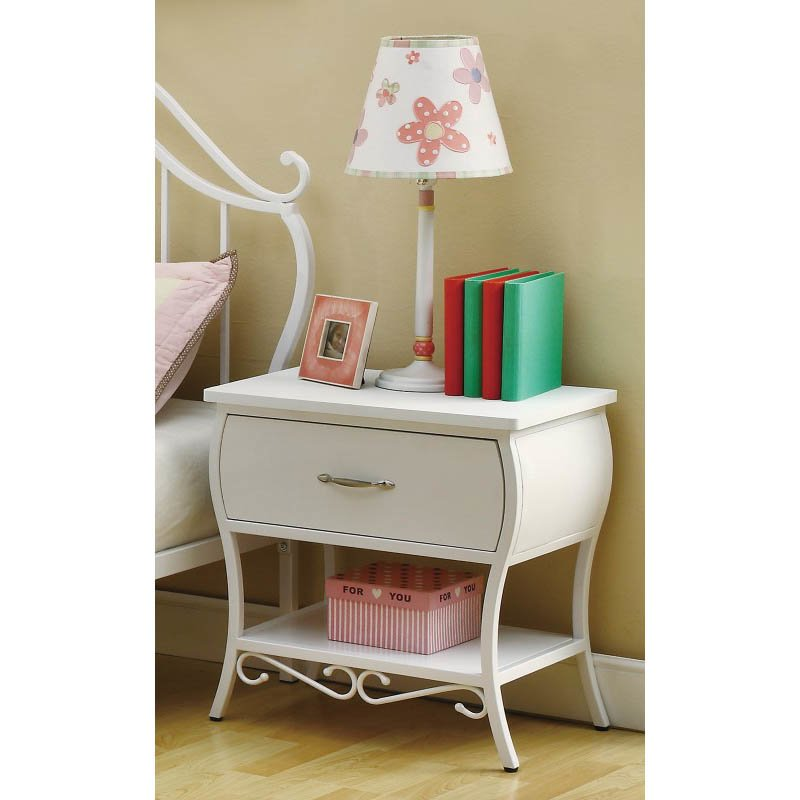 Coaster Bella Nightstand in White