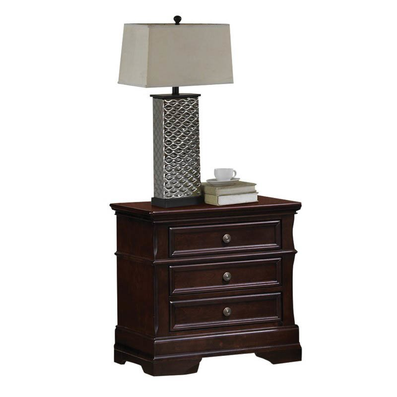 Coaster Cambridge 3 Drawer Nightstand in Dark Cherry