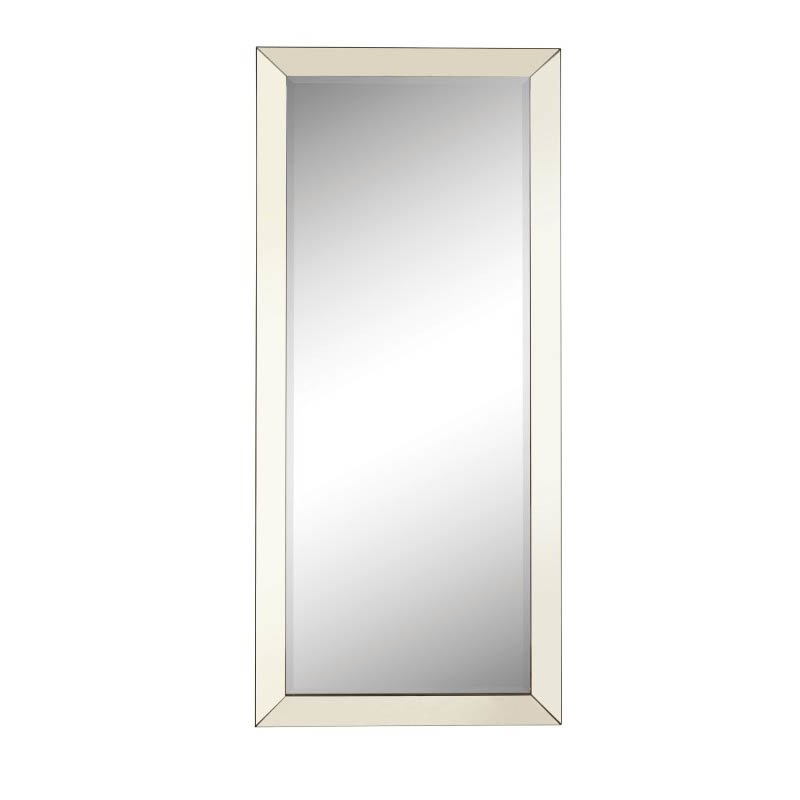 Coaster Contemporary Floor Mirror in Silver