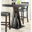 Coaster Crisscross Pub Table in Cappuccino