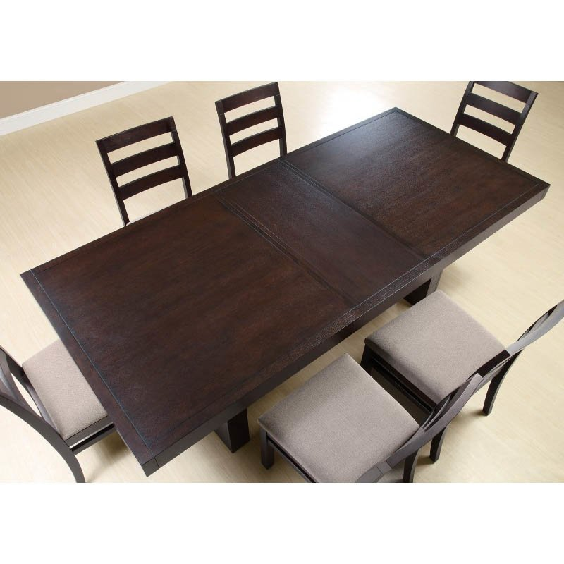 Coaster Dining Table in Cappuccino