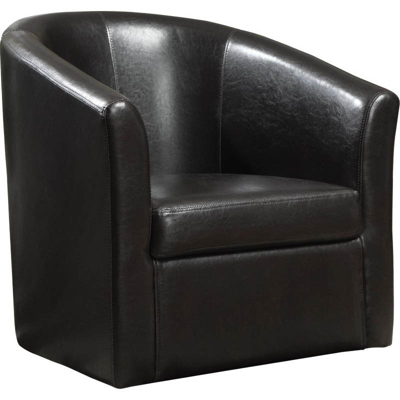 Coaster Faux Leather Club Chair in Brown