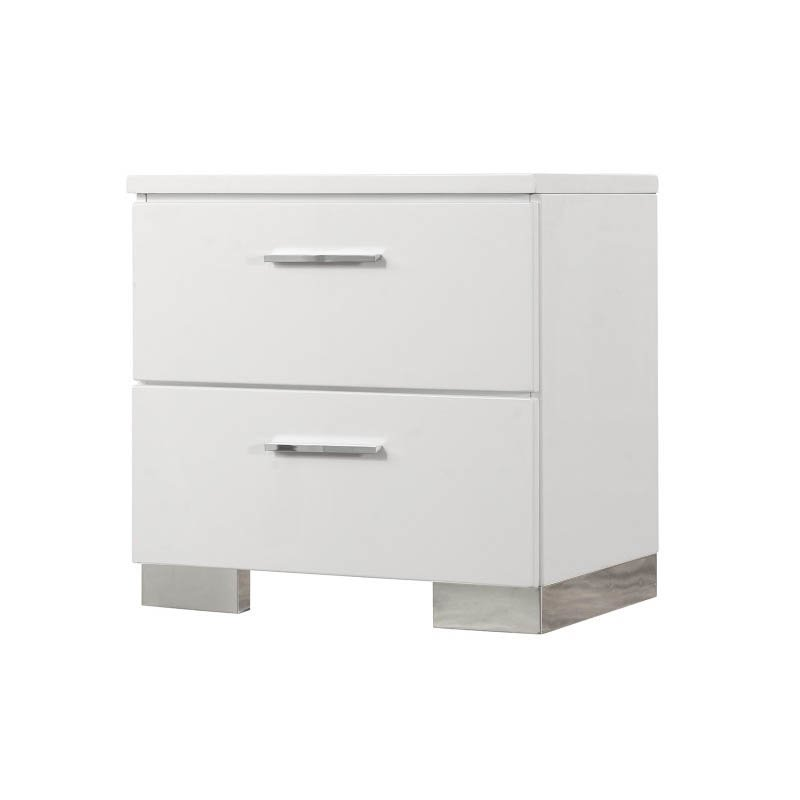 Coaster Felicity 2 Drawer Nightstand in White