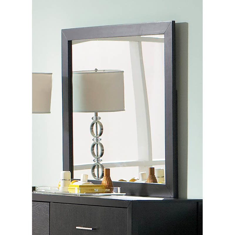 Coaster Grove Mirror in Black Finish