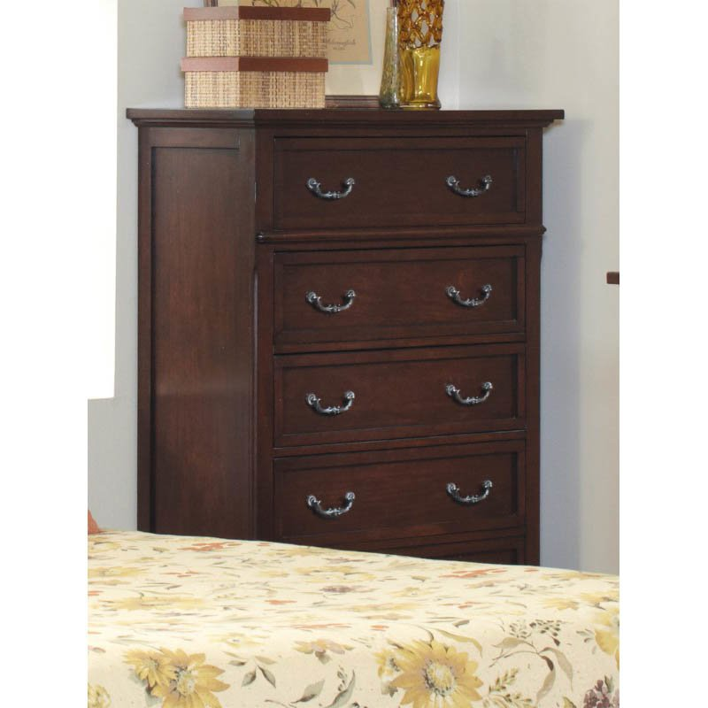 Coaster Hannah 5 Drawer Chest in Brown Cherry