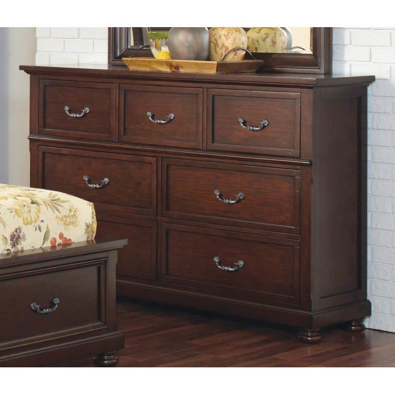 Coaster Hannah Drawer Dresser in Brown Cherry