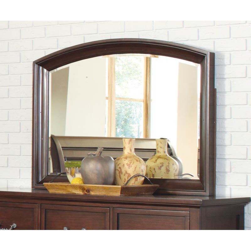 Coaster Hannah Dresser Mirror in Brown Cherry