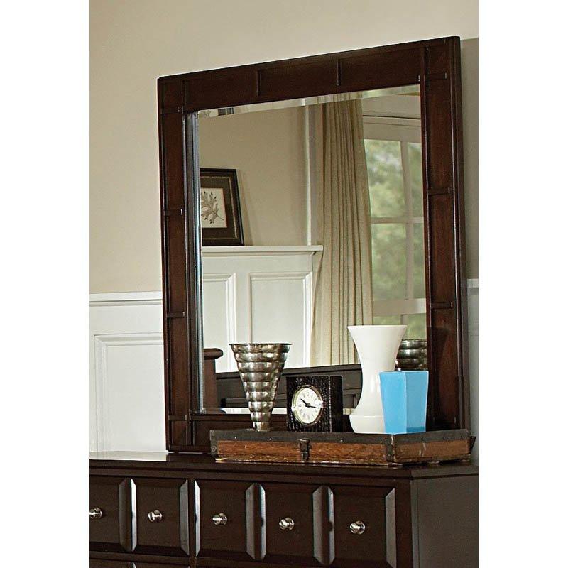 Coaster Harbor Classic Square Dresser Mirror in Cappuccino Finish